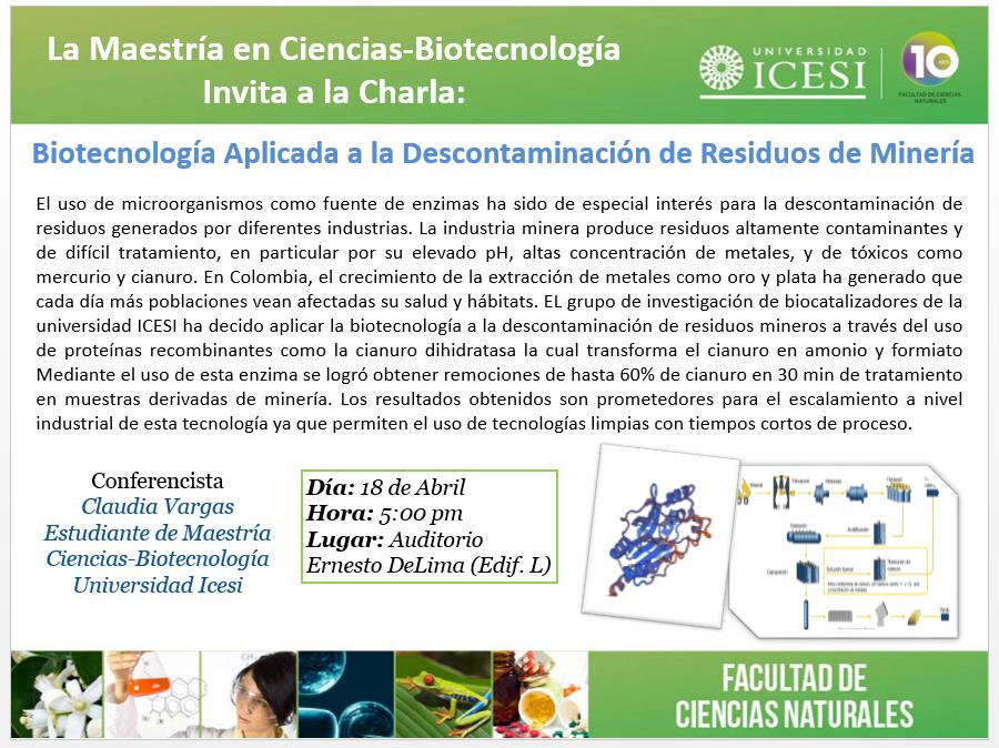 Biotecnología aplicada a la descontaminación de residuos de minería