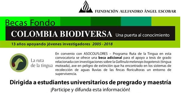 Becas Fondo Colombia Biodiversa